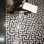 Floor1983, 1983, Masking tape on floor