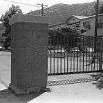 A drawing on the gate (A drawing in a photograph), 1984, Chalk (Photograph)