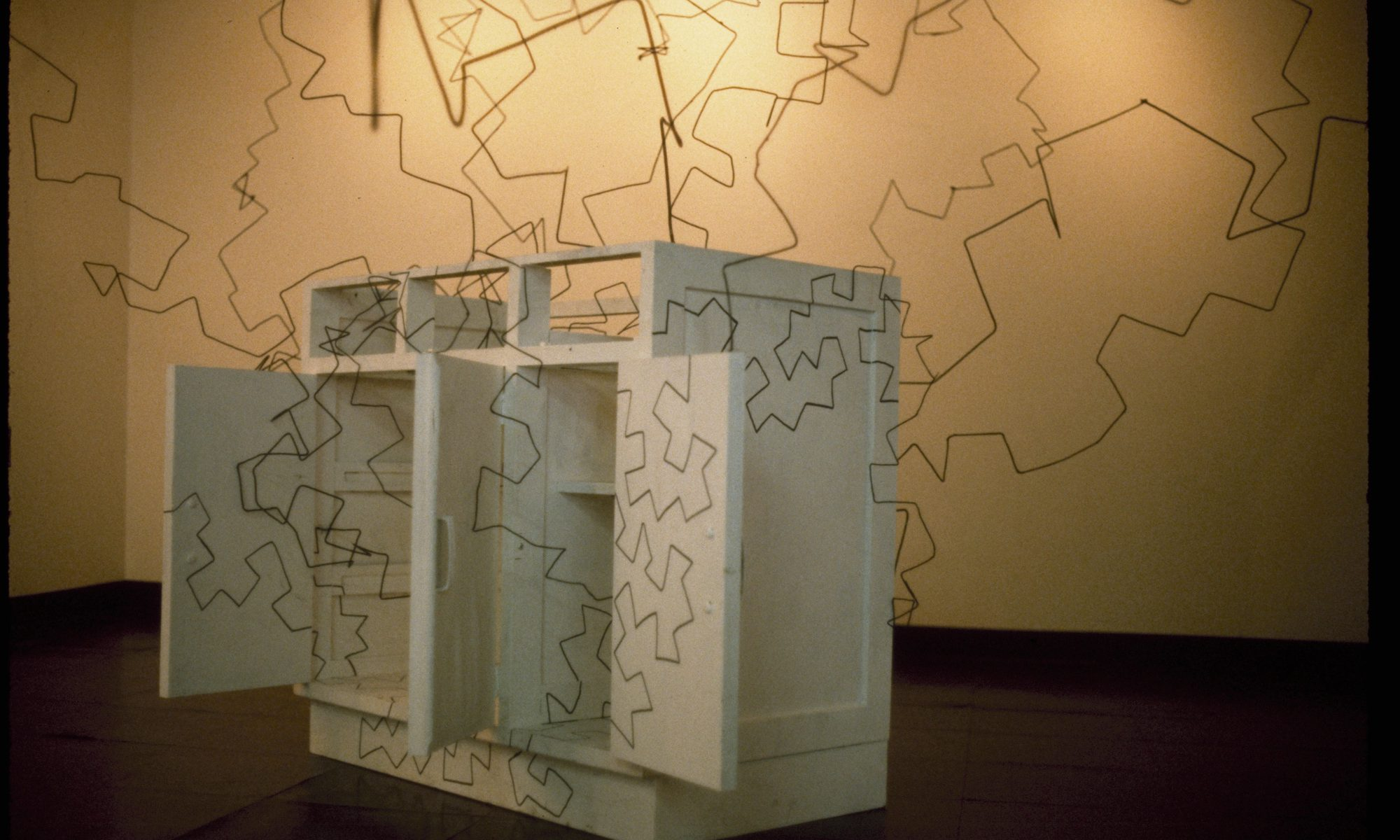 A drawing on the room, 1984, Mixed media