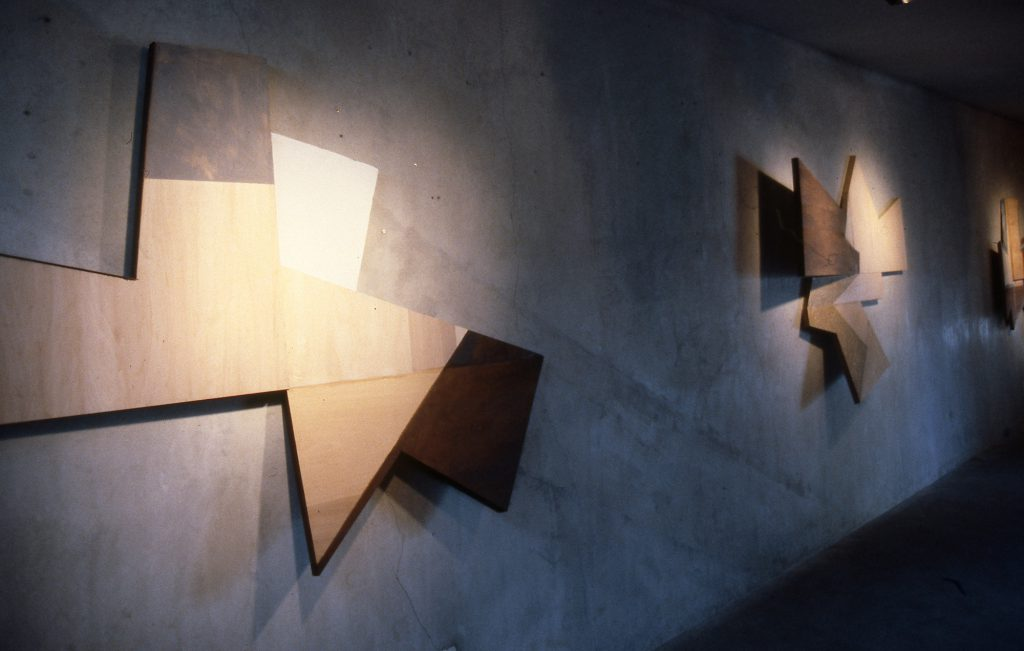 Untitled, 1987, Paint stick and acrylic paint on wood